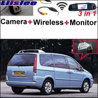 Liislee 3 in1 Special Camera + Wireless Receiver + Mirror Monitor Easy DIY Back Up Parking System For Citroen C8 MK2 2002~2016