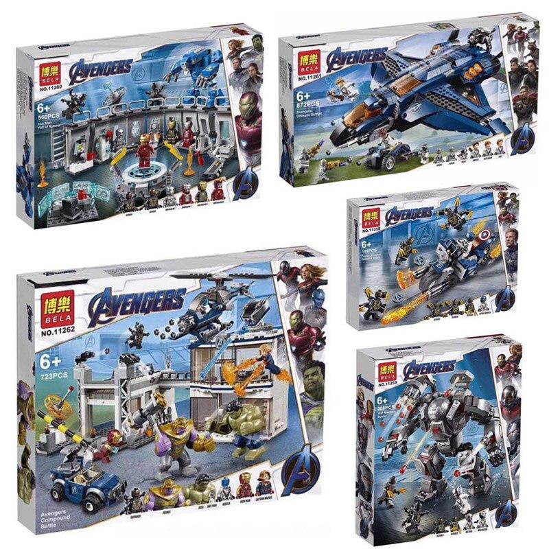 Marvel Avengers 4 Endgame Super Hero Iron Man Captain America War Machine Legoinglys Marvel Avengers Building Blocks Bricks Toy