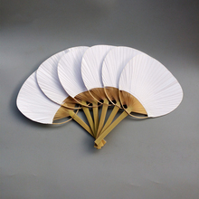 30 pcs/lot wedding White Paddle Fan for decoration