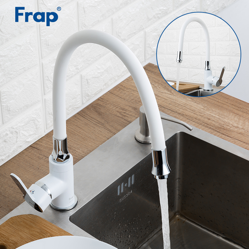 frap kitchen faucet modern style flexible kitchen sink mixer faucet taps red white black color single handle cold and hot water