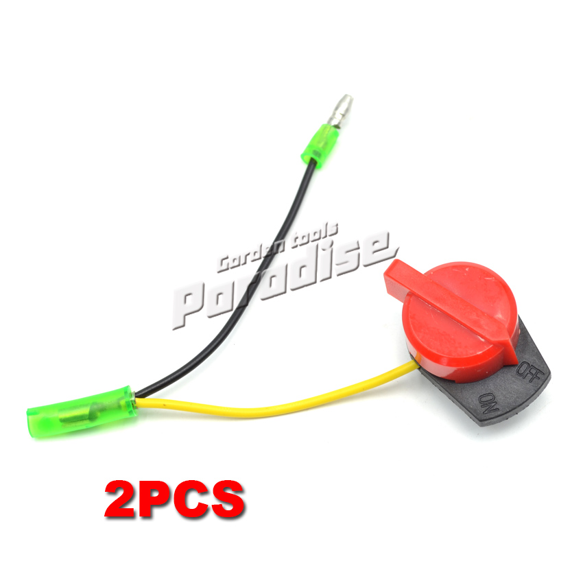 2PCS On Off Engine Stop Switch With Wire For Honda GX120