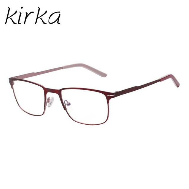 Kirka New Design Red Stainless Steel frame Spectacle Metal Frame ...