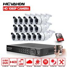 16CH AHD HD CCTV система 2.0MP CCTV камера 1080 P DVR комплект 1080 P HDMI камера безопасности Система дистанционного просмотра seguranca em Каса