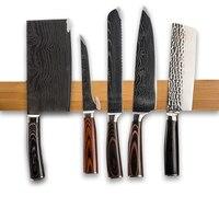 Magnetic Knife Holder 15 inch Wall Mount Wooden Magnetic Strip For Metal Knife Rack Utensil Easy Storage Kitchen Tool