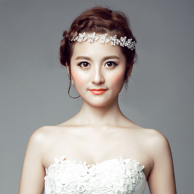 Bridal Headdress Korean Wedding White Flower Head Hair Accessories Jewelry In From Womens Clothing