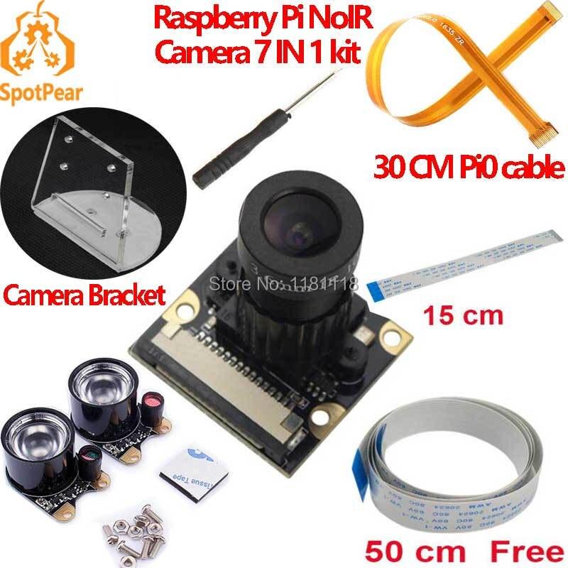 Módulo de câmera raspberry pi foco ajustável infravermelho noite noir câmera zero w 3b 4b
