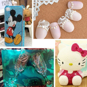 Image 3 - Contas de pérolas para fazer jóias, 1000 pçs/saco coloridas redondas, meia pérola, para fazer jóias, costura, plástico abs, pérola beads2mm/3mm/4mm/5mm/6mm/8mm