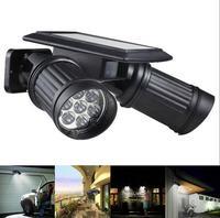 더블 태양 스포트 라이트 야외 램프 led 조명 정원 조명 모션 탐지기|실외용 벽전등|   -