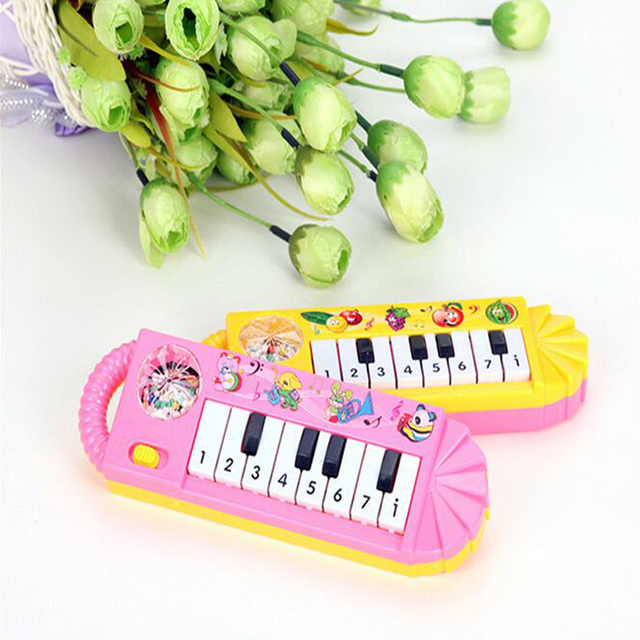 1 Piece Plastic Baby Children Electric Piano Musical Instruments Rattles Hand Bell Infant Newborn Preschool Learning Toys Gifts 3