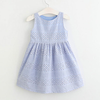 Hurave Summer Fashion Dresses For Girls 2017 Casual Baby Dress Princess Party Hollow Dresses Children Summer