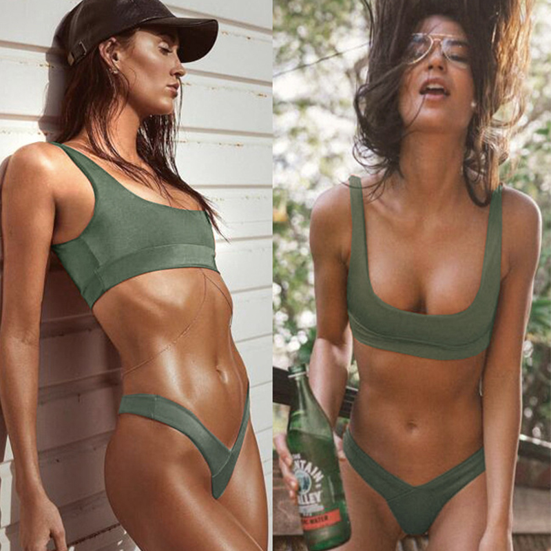 Kakaforsa Solid Bikini Set Zomer Dames Badpak Afzonderlijke Badmode - Sportkleding en accessoires - Foto 5