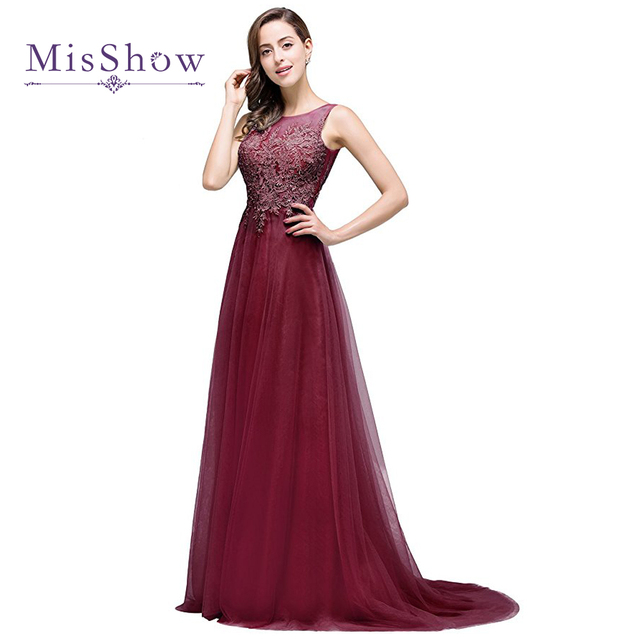 vestido de festa Backless Long Evening Dresses Appliques Lace Tulle Evening  Dress Robe De Soiree Formal Gowns Prom Party Dress 2e3c406117b0