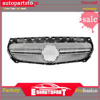 AMG Style Front Grille Mesh For Mercedes W117 CLA Class 2014 2016 Pre facelift CLA180 CLA200 CLA250 CLA45 AMG 4 MATIC