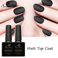Saviland 1pcs Matt Matte Top Coat Gel Varnish UV LED Gel Lacquer Semi Permanent Soak Off Matt Top Coat Nail Gel Polish