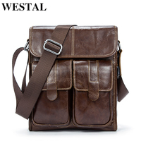 Real Genuine Leather Men Bags Men Messenger Bag Shoulder Bag Men S Briefcase Vintage Shoulder Coffer