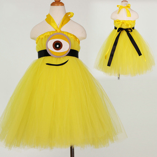 73836db5f8ba9 US $25.0  fashion cute baby girl clothes high quality yellow girls kids  tutu dresses for girls 2 to 12 years-in Dresses from Mother & Kids on ...