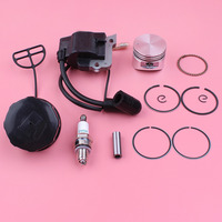 Ignition Coil 35mm Piston Spark Plug Fuel Tank Cap Kit For Honda GX25 GX 25 4 Stroke Trimmer Brush Cutter Lawn Mower Engine Part