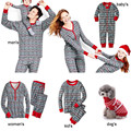 Christmas Family matching clothes Womens Mens Baby Kids pet Pajamas Gift Pj Set Cotton Deer Nightwear New Year Family Look Sets