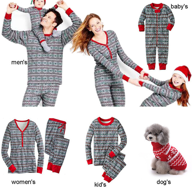 5a69f44ee9 christmas family matching clothes womens mens baby kids pet pajamas gift pj  set cotton deer nightwear