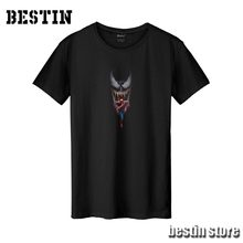 Bestin New Marvel Spider man Superhero Venom Sunflower Cotton T shirt/Sweatshirt/Hoodies Unisex Good Quality Hipster X158(China)