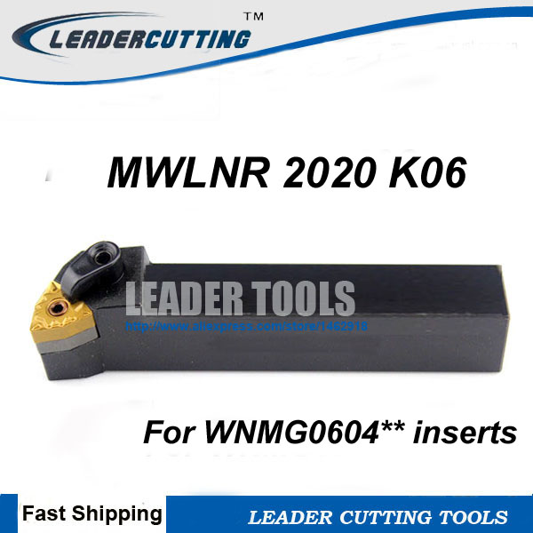 MWLNR2020K06 20×125mm Right Cylindrical turning tool holder For WNMG0604 inserts