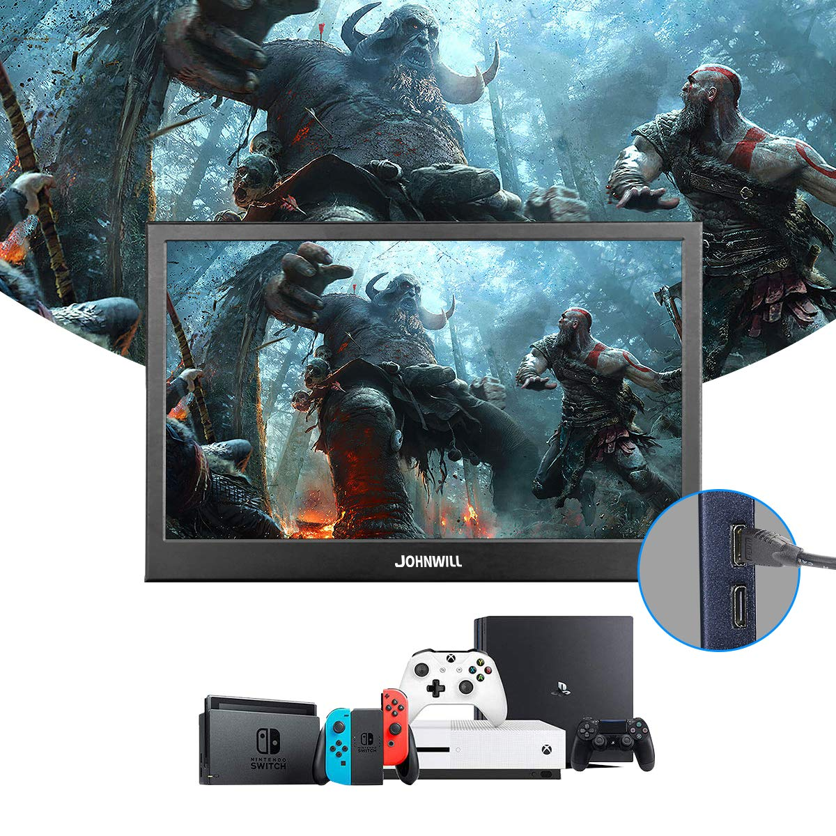 13.3 inch 2560x1440 Portable Monitor pc for PS4 Windows 7 8 10 Full HD LCD 2K HDMI IPS Screen gaming Monitor Ultra Thin Display - 6