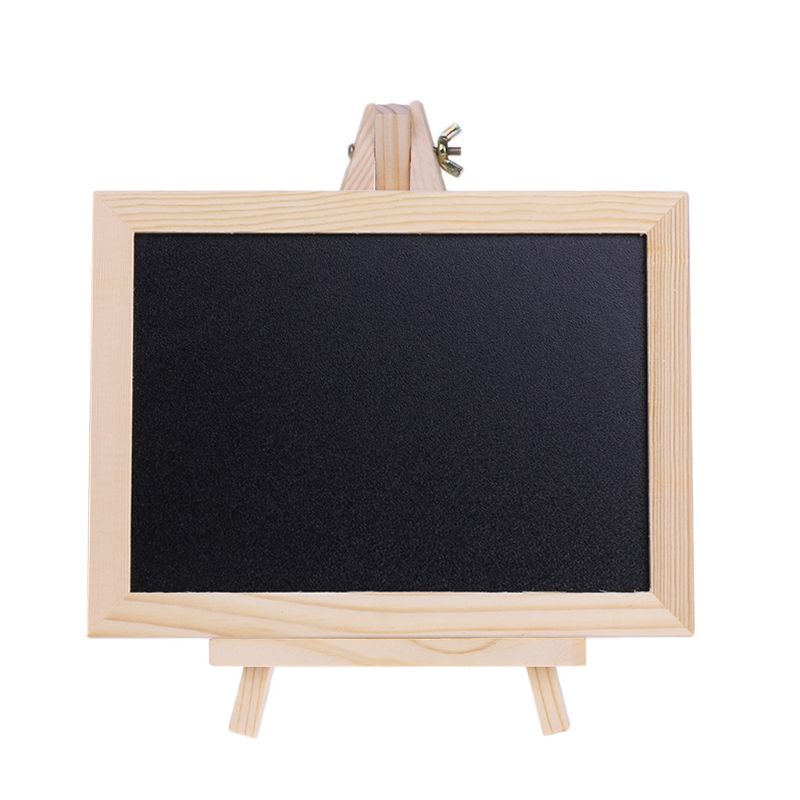 1Pc Wood Tabletop Chalkboard Double Sided Blackboard Message Board Children Kids Toy Message Blackboard Hot