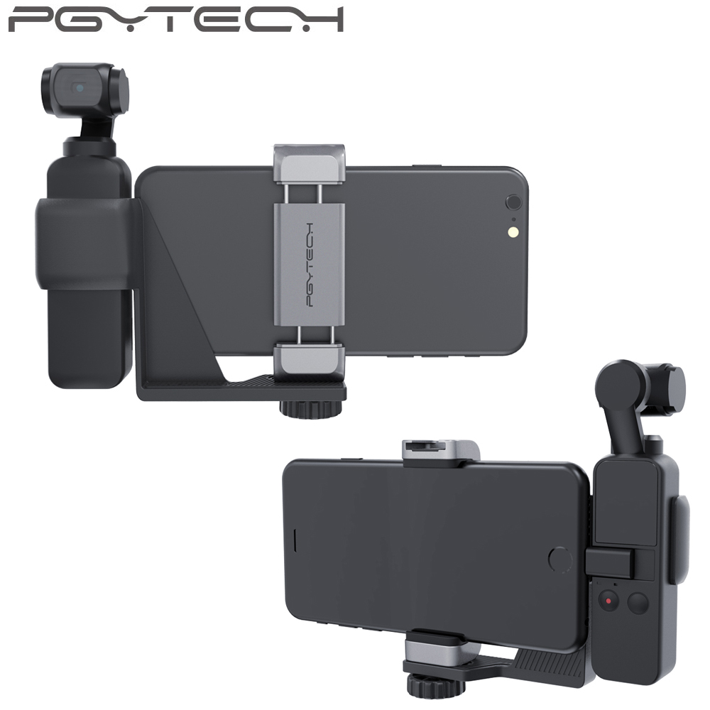 PGYTECH DJI OSMO Pocket Phone Holder Set for DJI OSMO Pocket Handheld Gimbal Holder Bracket Accessories-in Gimbal Accessories from Consumer Electronics