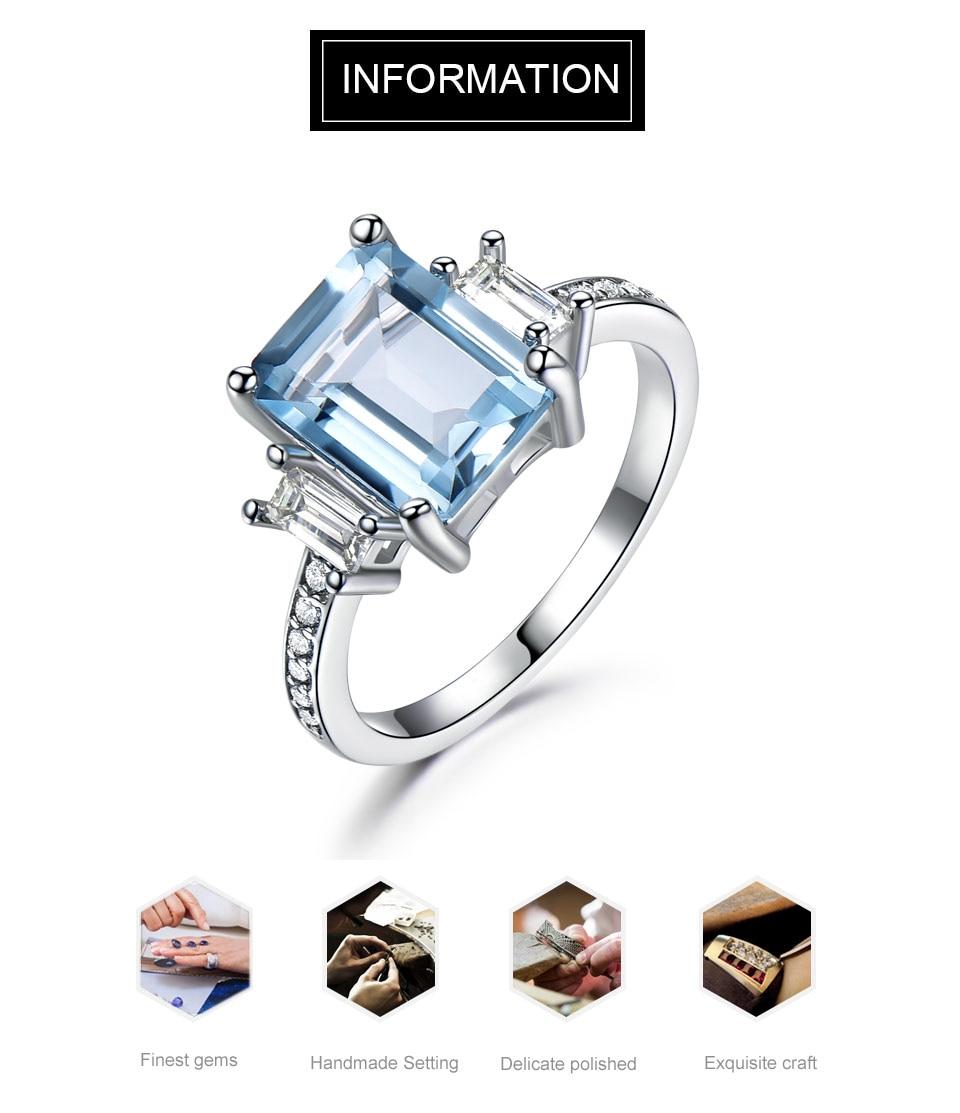 HTB1Ide lSMmBKNjSZTEq6ysKpXaI UMCHO Blue Topaz Gemstone Rings for Women Genuine 925 Sterling Silver Aquamarine Ring Romantic Wedding Engagement Fine Jewelry