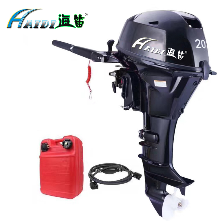 US $1688 0  HaiDi Wholesale and Retails Water Cooled 4 stroke 20 HP marine  engine outboard motor for boats-in Boat Engine from Automobiles &