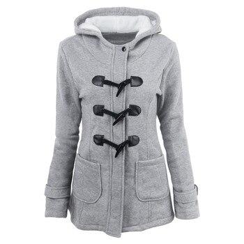 Γυναικείο Μακρύ Παλτό Με Κουκούλα Κουμπί Και Φερμουάρ Μεγέθη S – 5XL Γυναικεία Παλτό Ρούχα MSOW