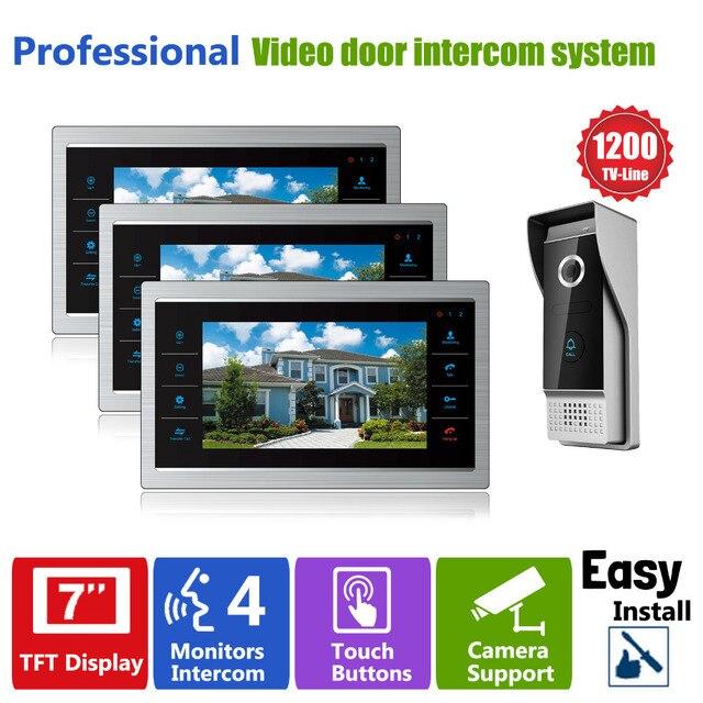 3V1 Homefong Телефон Двери Монитор Видео Дверь Камеры Домофон Главная Безопасность 3 Крытый ЖК-Экран 1 1200TVL посмотреть