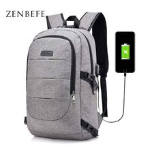 ZENBEFE Anti-Theft Backpack With Password Lock Travel Rucksack School Bag Fashion Men Backpacks For 15 Inch Laptop Bags Bookbags(China)