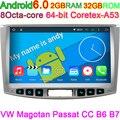 Para VW Tiguan e Passat CC 2012 2013 2014 2015 Android 6.0 Octa Núcleo Computador Do Carro DVD HD 1024*600 Pixels com Canbus No Painel PC