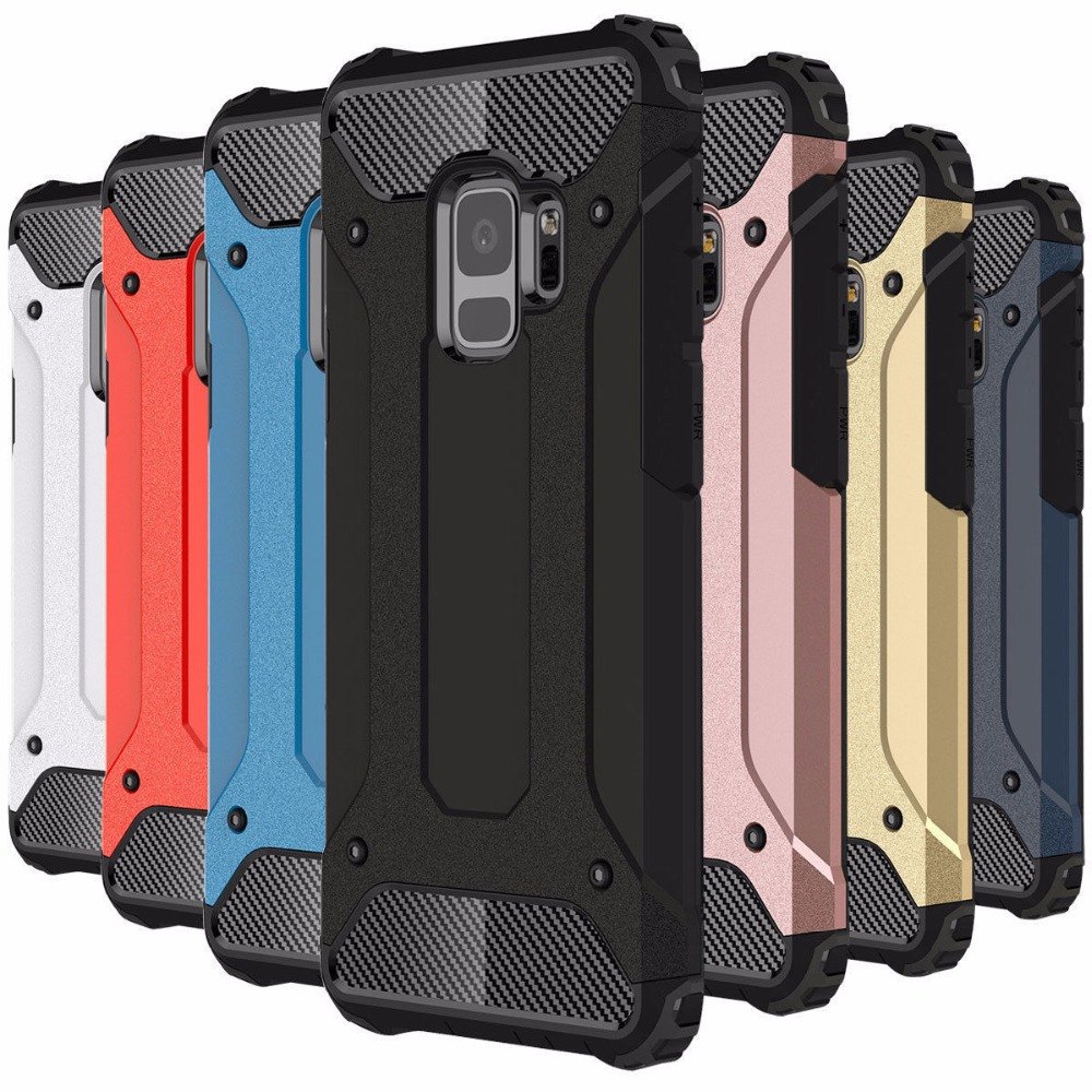 Tough Durable Defender Armor Phone Samsung Galaxy S9 S8 Plus S7 S6 Edge S5 Hybrid Shockproof Protective Cover