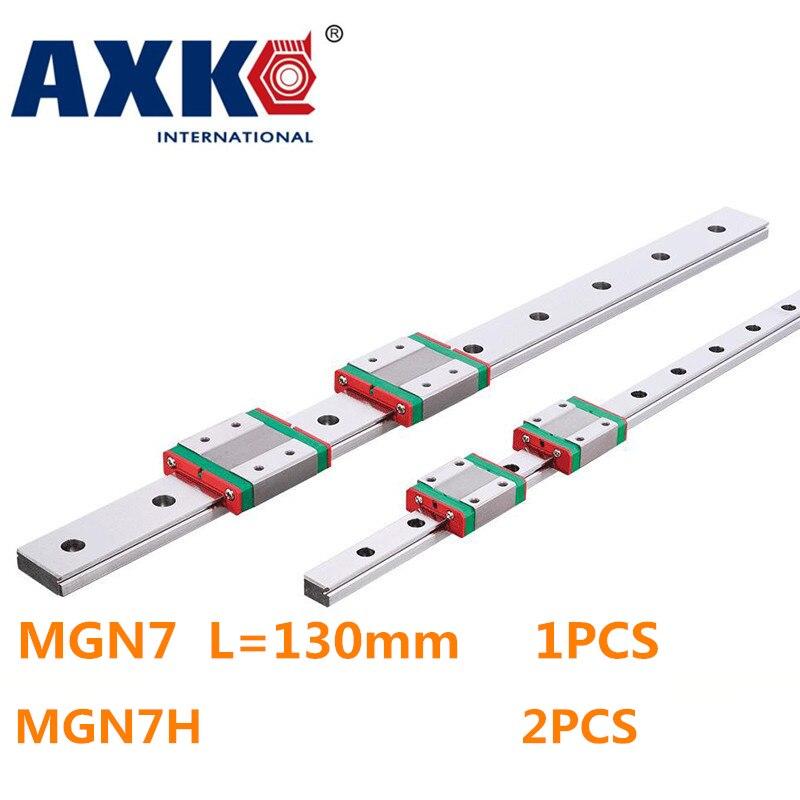New Miniature Linear Guide MGN7 L  130mm guideway + 2pcs MGN7H Long blocks carriage подвесной светильник la lampada 130 l 130 8 40
