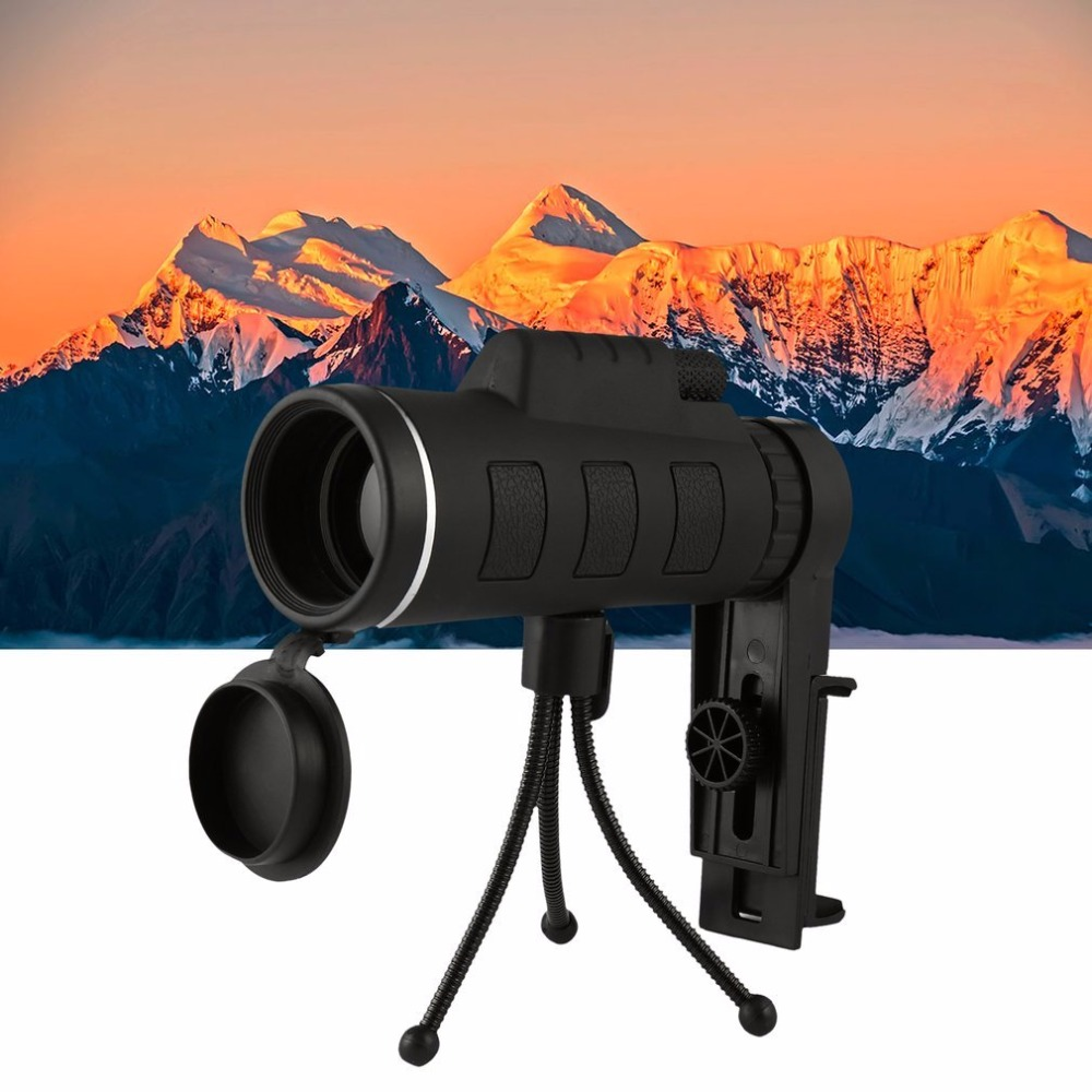 EYOYO 40X60 Monocular Telescope Night Vision Prism Scope With Phone Clip Tripod