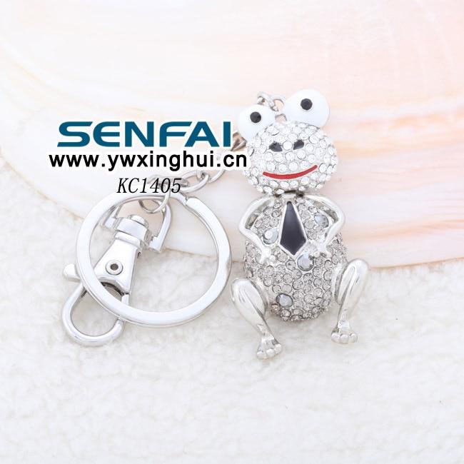 Beautiful Creative Korean Crystal Frog Keychain Metal Car Key Ring,Novelty Items,Fashion Trinket Souvenir,Christmas Gift