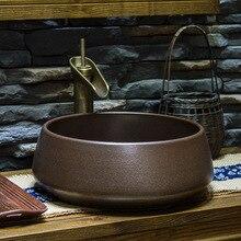 Antiguo hecho a mano estilo antiguo, Europeo Lavobo de cerámica de baño encimera de lavabo de baño pintado a mano Baño