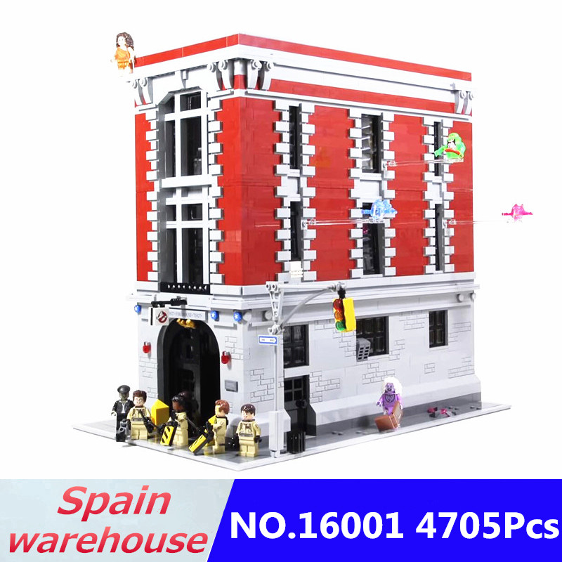 16007 16001 Building Blocks Set Ghostbusters Firehouse Headquarters Haunted House City Movie Series 10228 75827 Gift