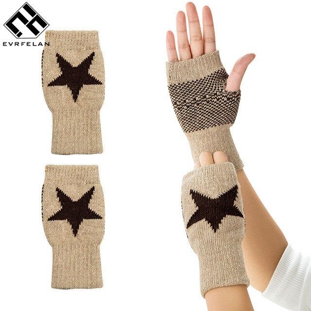 Women Gloves Stylish Hand Warmer Winter Gloves Women Men Knitting ...