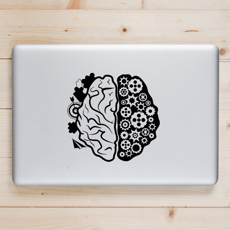 Right Left Brain Vinyl Laptop Sticker Decal for font b Apple b font font b Macbook