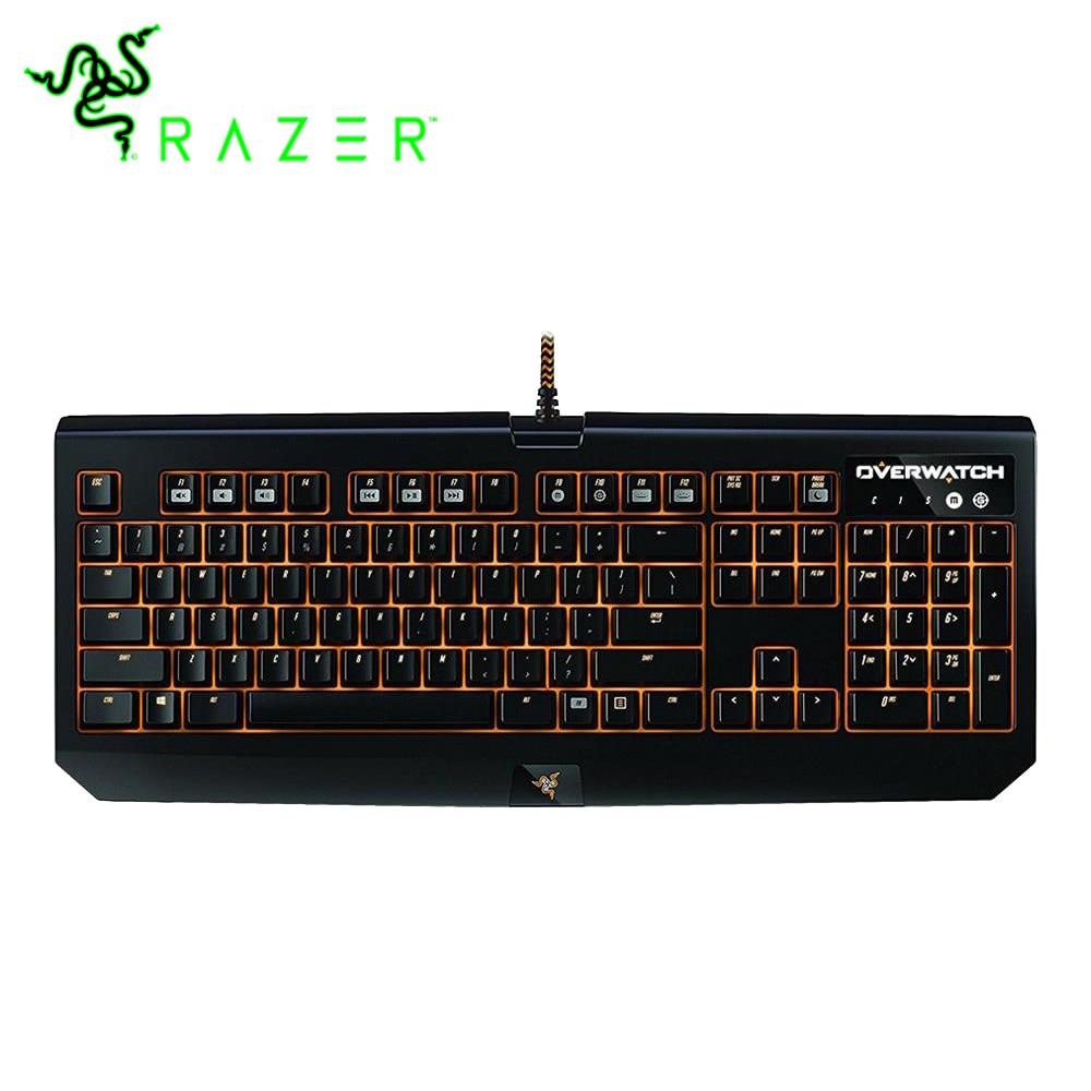 Clavier de jeu mécanique Razer Overwatch blackveuve Chroma RGB clavier de commutation vert Razer en métal de qualité militaire