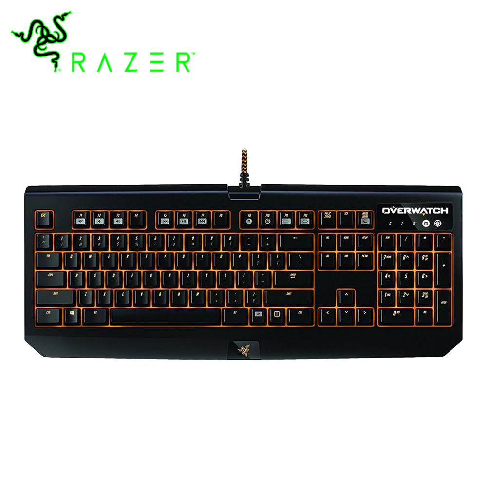 лучшая цена Razer Overwatch BlackWidow Chroma RGB Mechanical Gaming Keyboard Military Grade Metal Construction Razer Green Switch Keyboard