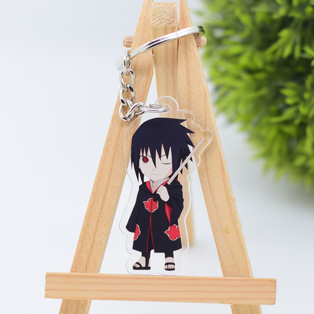 2019 Naruto Keychain Sasuke/itachi/Kakashi Double Sided Acrylic Key Chain Pendant Anime Accessories Cartoon Key Ring 2