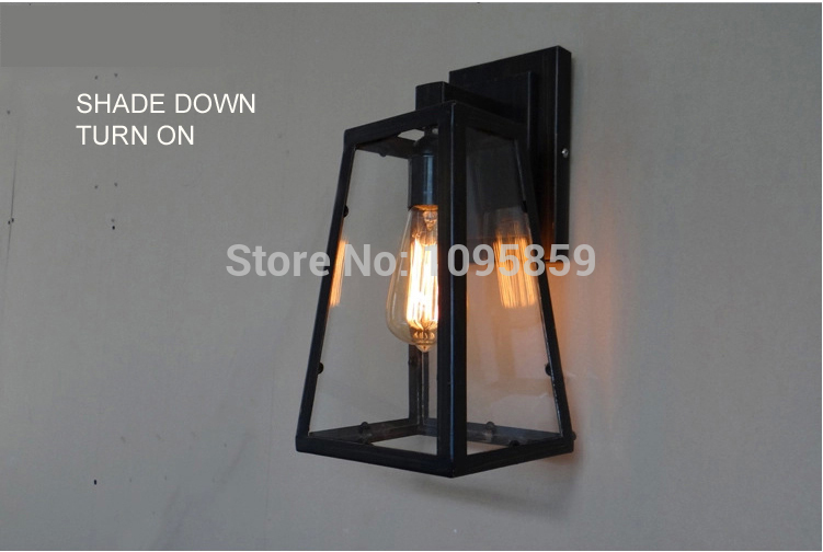 SETTEMBRE Vintage Industrial Box Wall Lamps E27 Metal Wall Lamp Dining Room Bar Retro Wall Light Sconces   SETTEMBRE Vintage Industrial Box Wall Lamps E27 Metal Wall Lamp Dining Room Bar Retro Wall Light Sconces