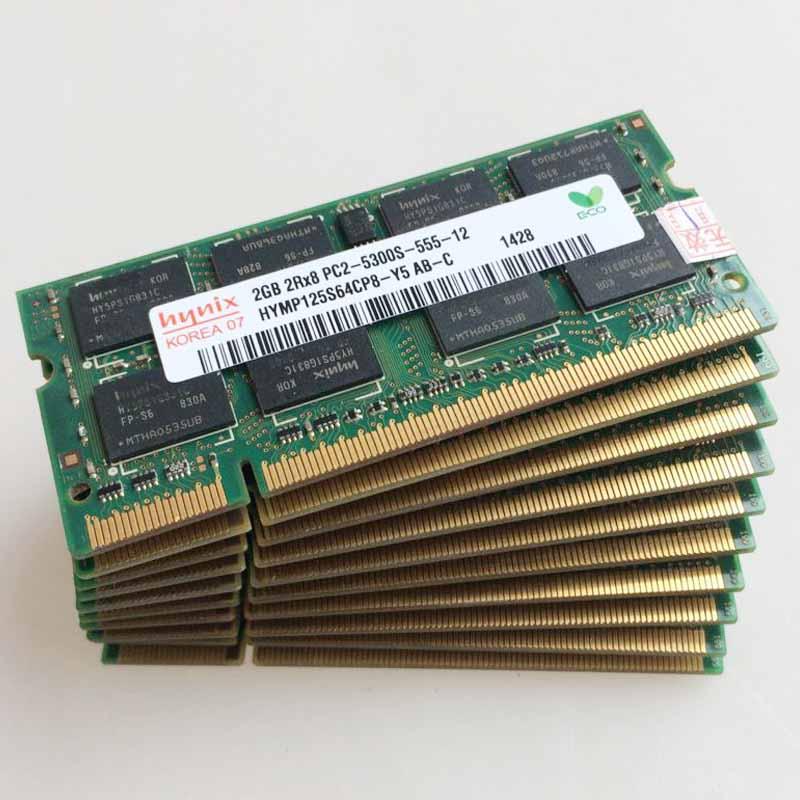 DDR2-800MHz  Notebook Laptop Memory RAM Hynix 2GB PC2-5300S  2RX8 DDR2-667MHz