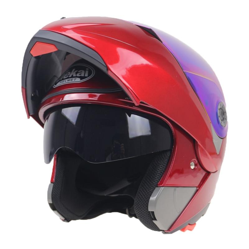 2016 Nieuwe Collectie Motorhelmen Klap helm op met zonneklep voor - Motoraccessoires en onderdelen - Foto 3