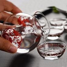 christmas 7 piece antique wine pot set white glass household dispenser liquor cup pieces