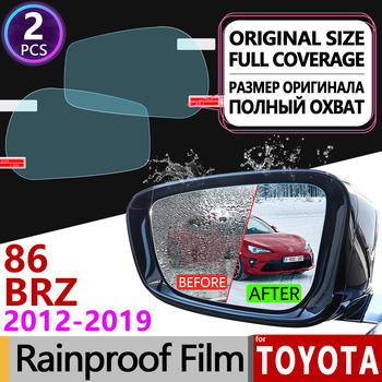 for Toyota 86 GT86 FT86 Scion FR-S Subaru BRZ 2012-2019 Anti Fog Film Cover Rearview Mirror Rainproof Anti-Fog Films Accessories image